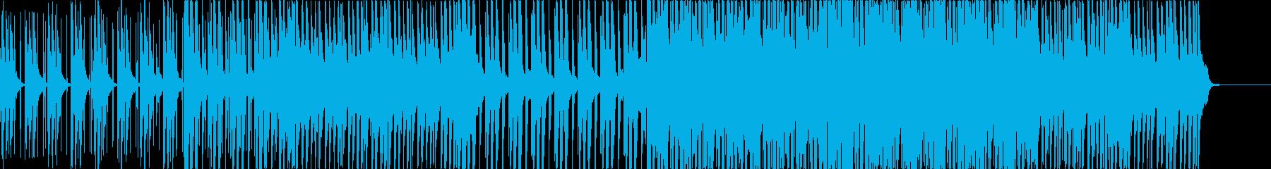 テンポ遅めのクールなピアノハウスの再生済みの波形