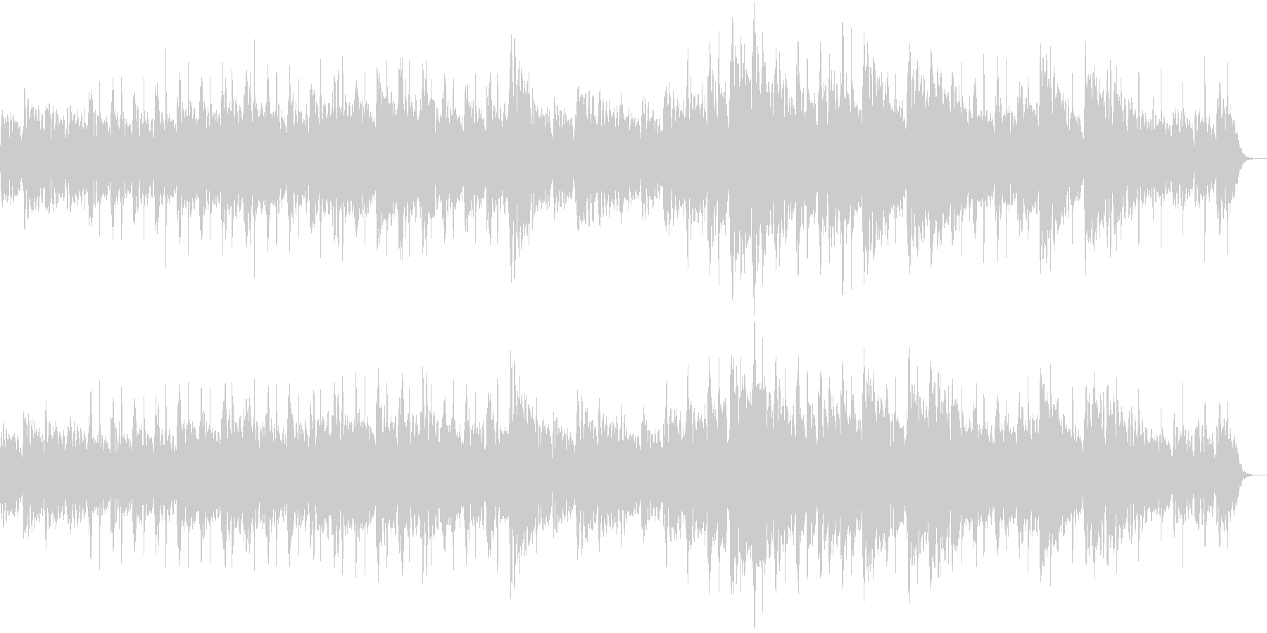 宇宙の始まりっぽいシンセサイザーの曲の未再生の波形