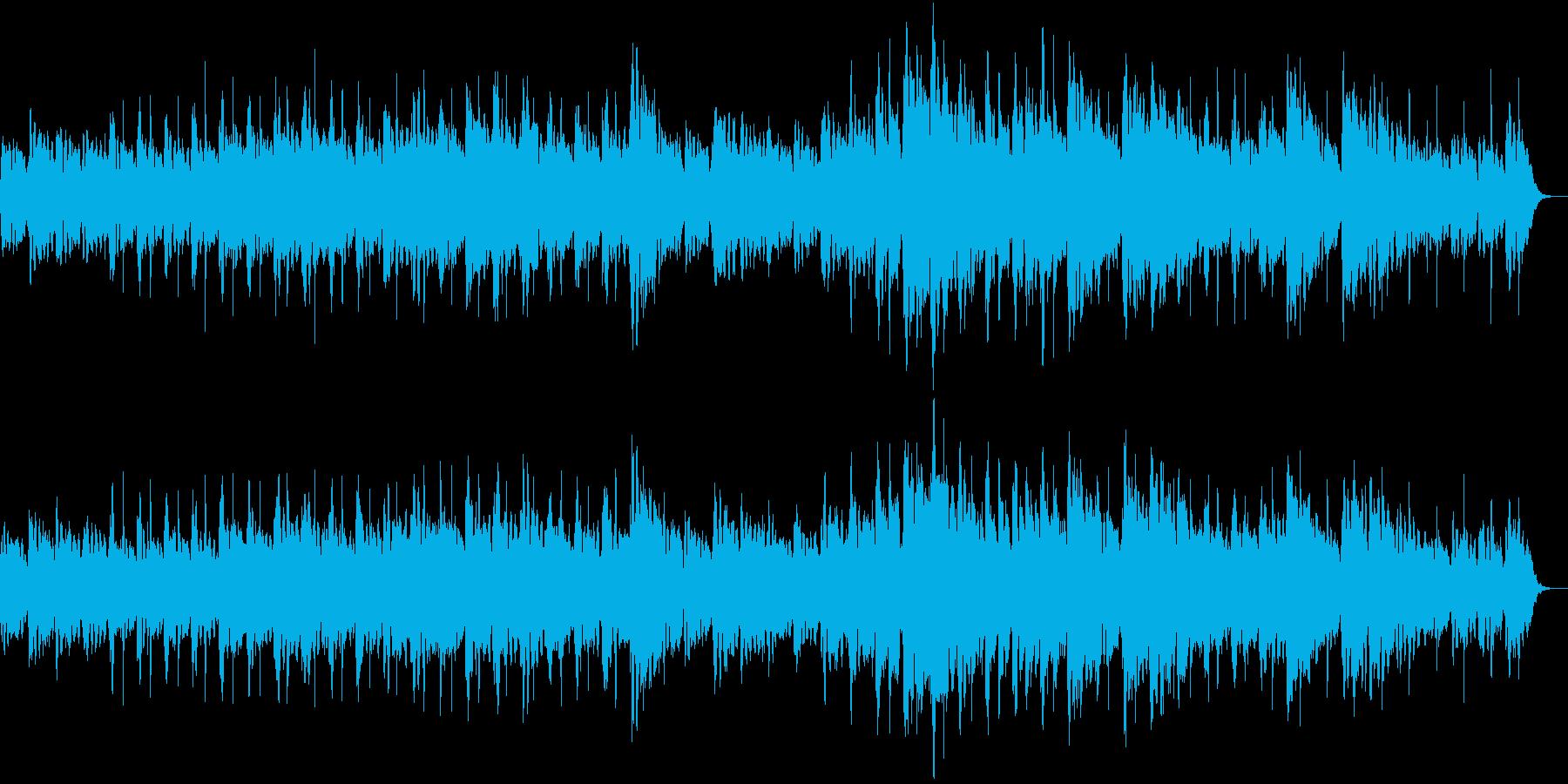 宇宙の始まりっぽいシンセサイザーの曲の再生済みの波形