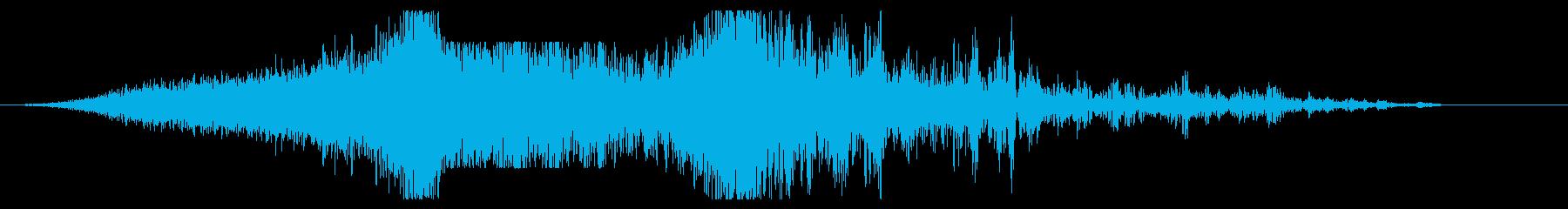 宇宙黙示録爆発、サンダーの再生済みの波形