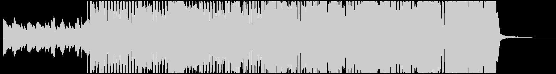 力強いロックサウンドの未再生の波形