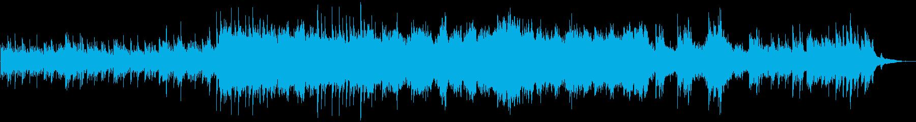 アンビエントでリラクゼーションな曲の再生済みの波形