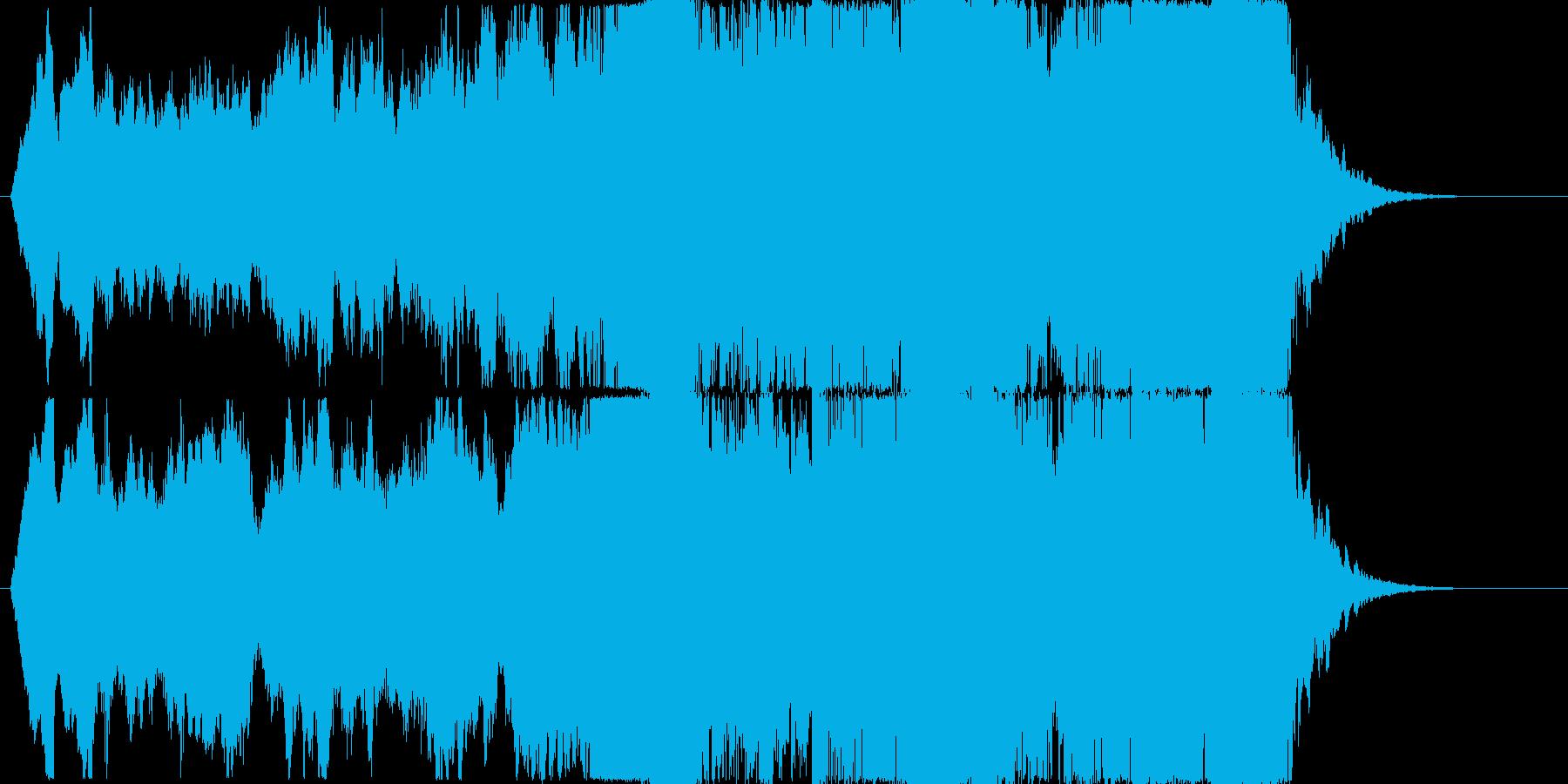 開放的なストリングスジングルの再生済みの波形