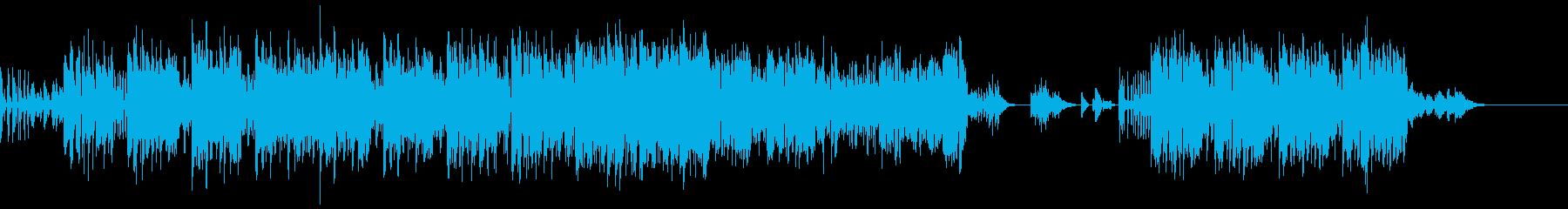 ボイパ主体のアップテンポな曲の再生済みの波形