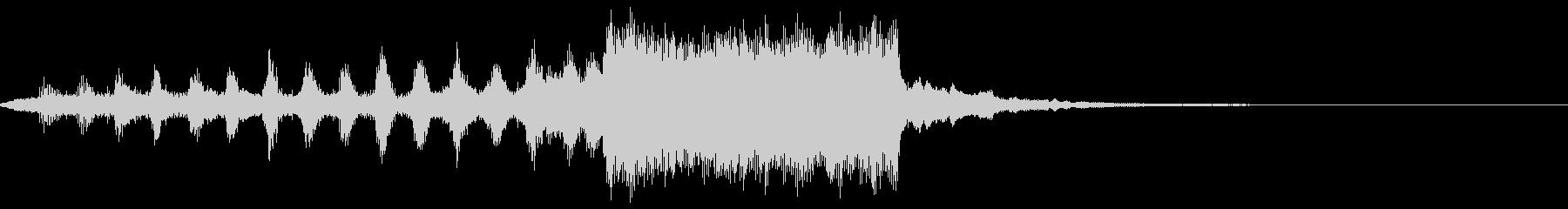 オーケストラによるオープニングのBGMの未再生の波形