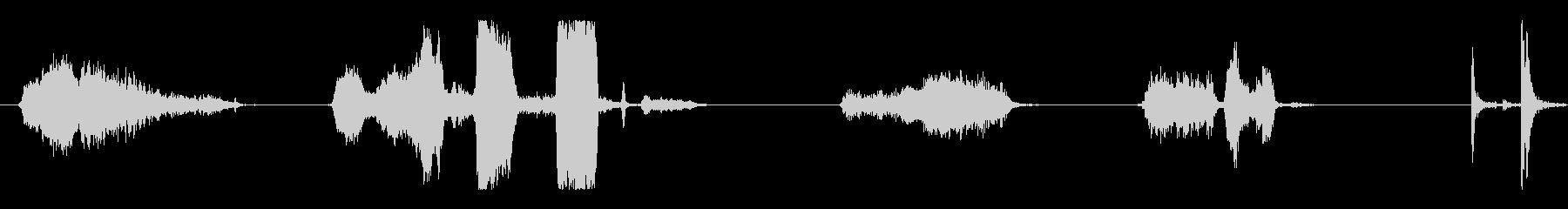 ハードドラッグ金属スクラップの未再生の波形