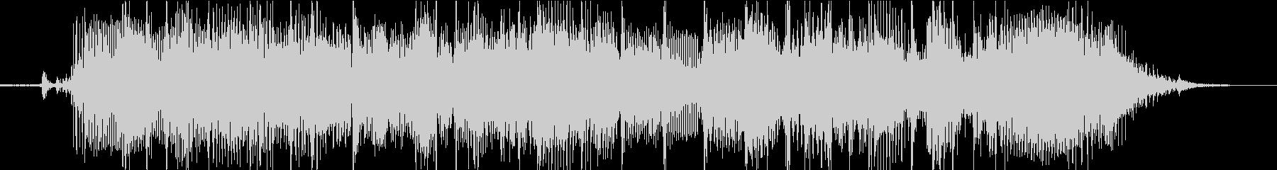 ロックテイストの転換ジングルの未再生の波形