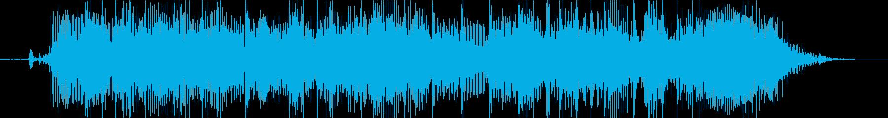 ロックテイストの転換ジングルの再生済みの波形