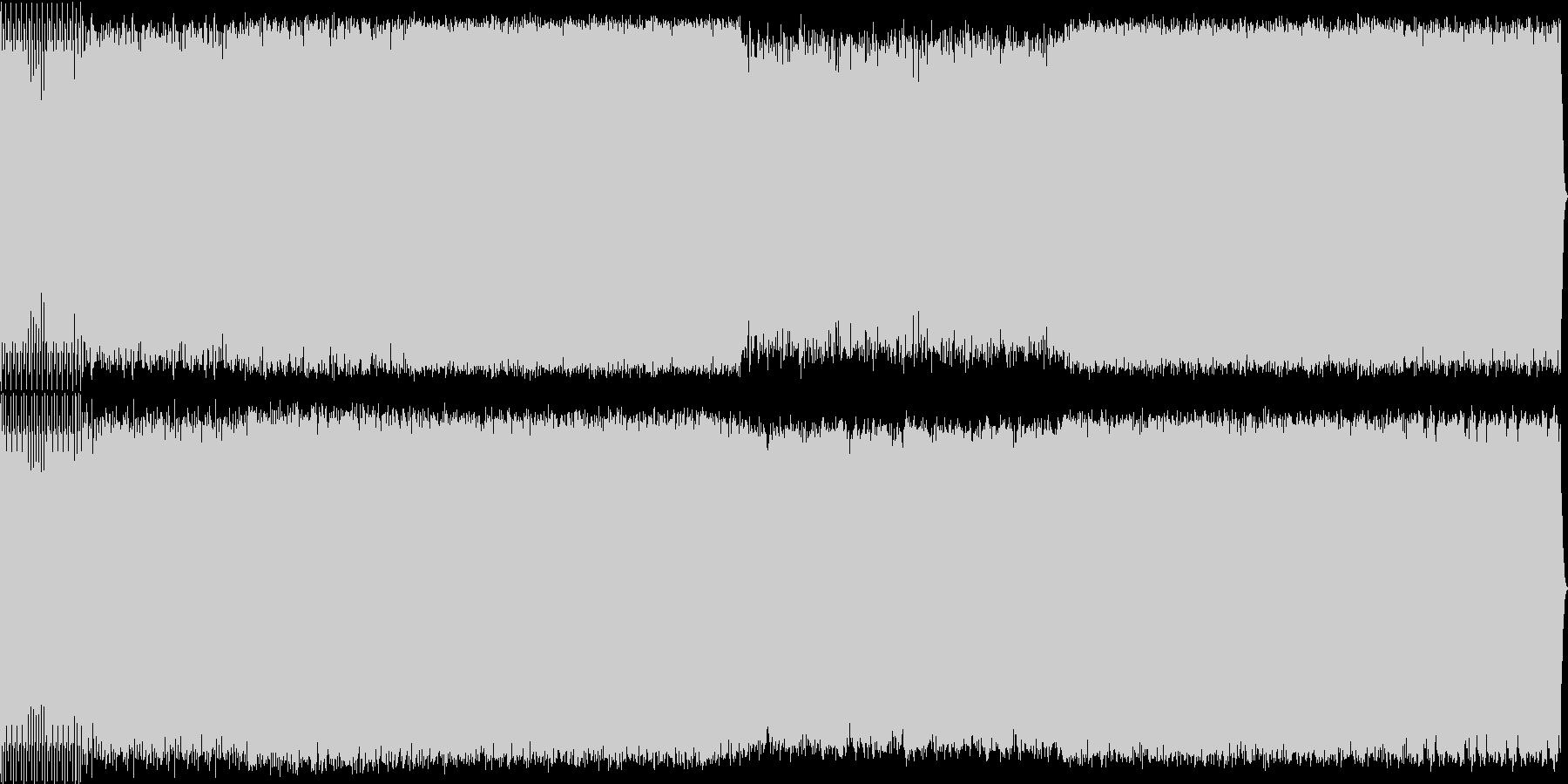 宇宙感のあるリズミカルなアンビエントの未再生の波形