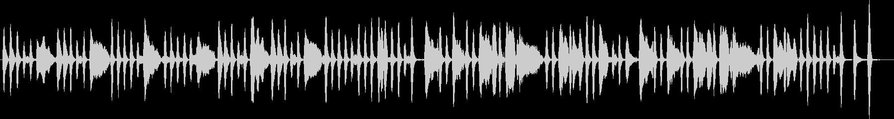 ジングルベルをヴァイオリンソロでの未再生の波形