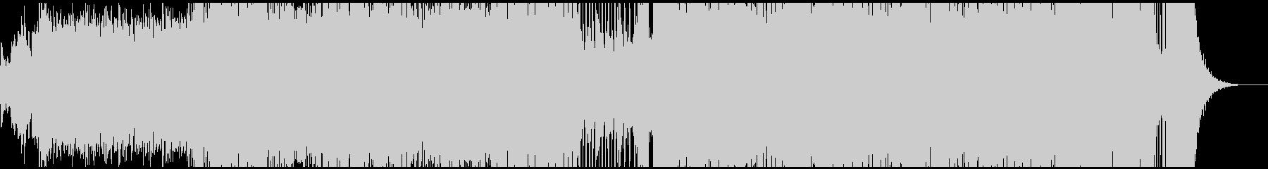 シンセサイザーによる前進するイメージの曲の未再生の波形