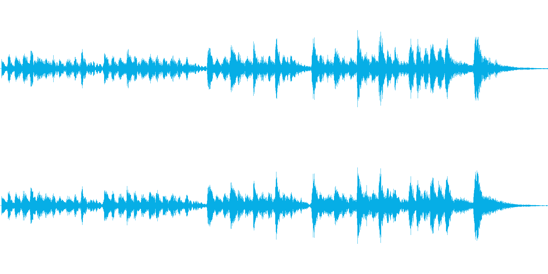 スリリングなジングルの再生済みの波形
