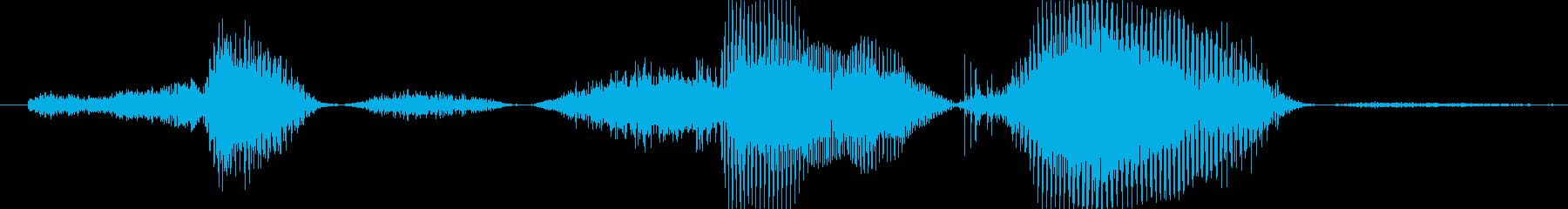 …サ、サンキューの再生済みの波形