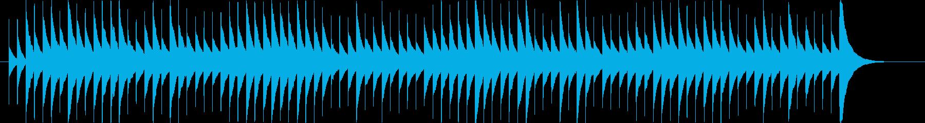 魔女の家の洋風ホラー系オルゴールの再生済みの波形