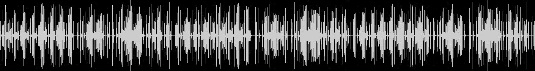 軽快なテンポのファミコン風ゲームBGMの未再生の波形