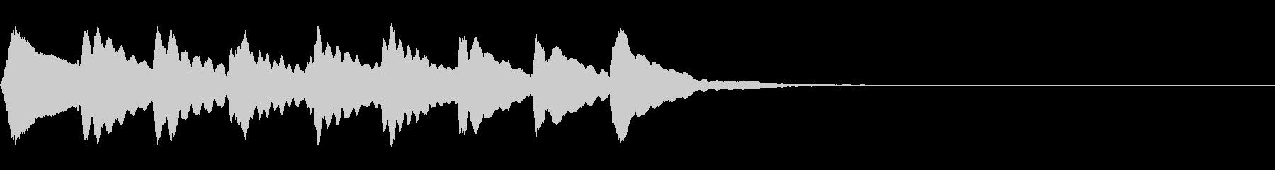 マリンバの上昇音の未再生の波形
