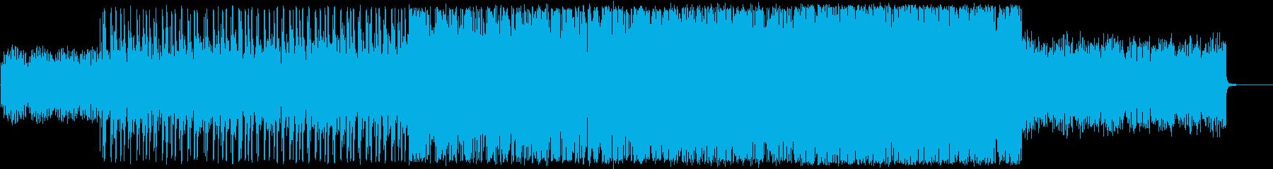 SF/タイトで速いビートのテクスチャーの再生済みの波形