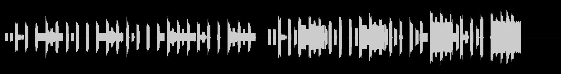 ハッピーバースデー ファミコン 遅めの未再生の波形