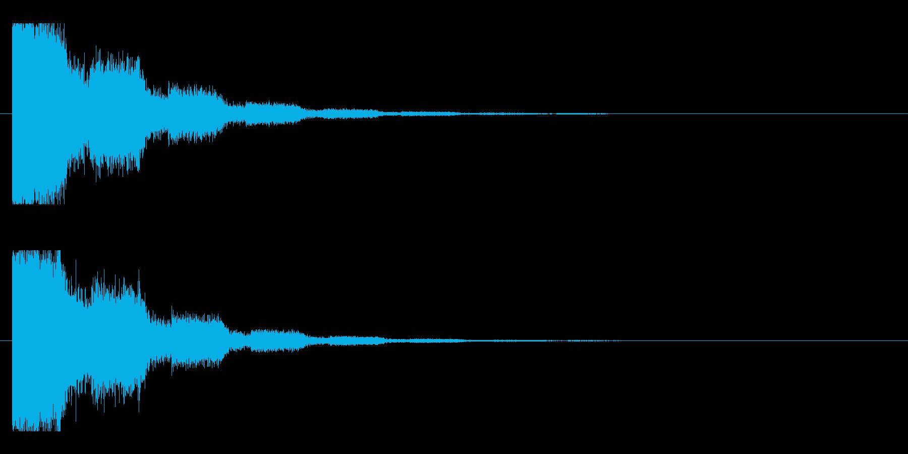 レーザー音-18-2の再生済みの波形
