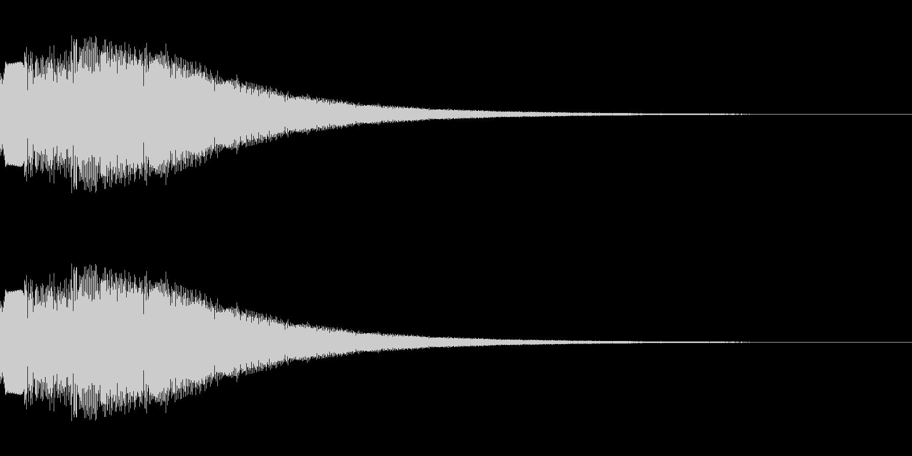 シンセサイザー 決定・選択・UI 3の未再生の波形