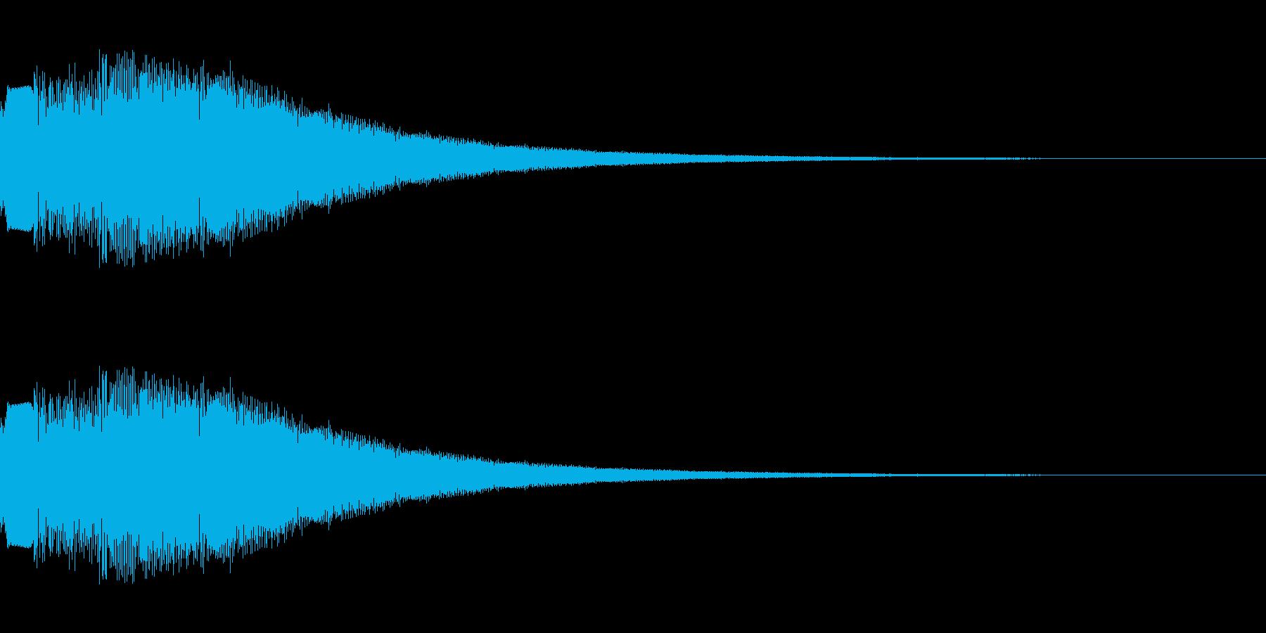 シンセサイザー 決定・選択・UI 3の再生済みの波形