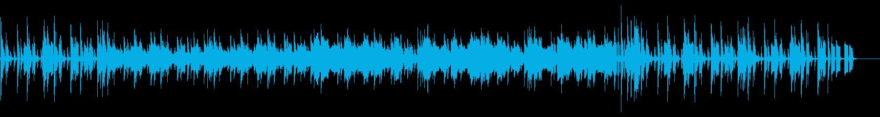 地下ダンジョンや工場の無機質なBGMの再生済みの波形