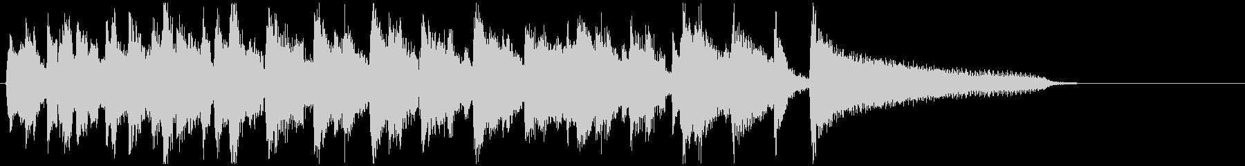 15秒CM向けの明るいジャズ、スイングの未再生の波形