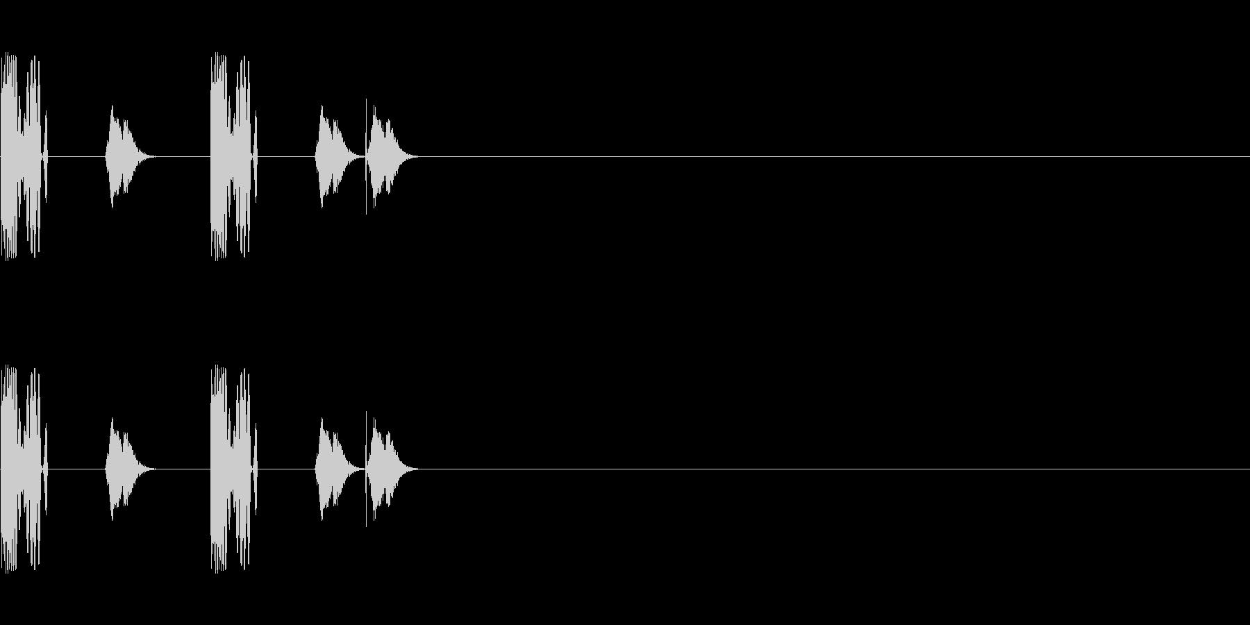 DJスクラッチ/ターンテーブル/E-18の未再生の波形