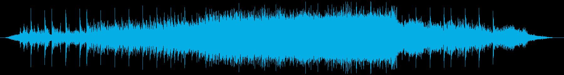 強風域とマリンバの再生済みの波形