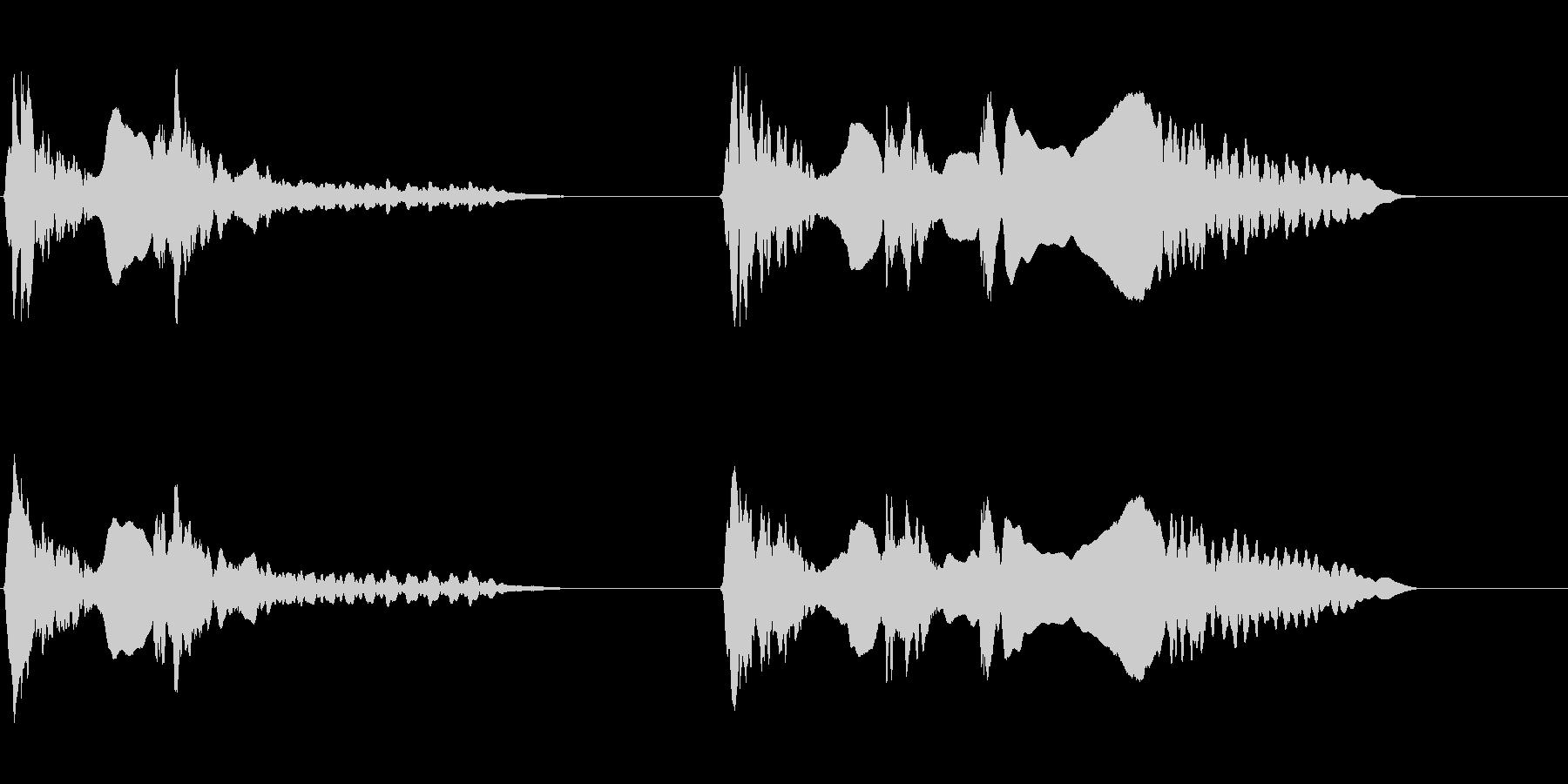 尺八 生演奏 古典風 残響音無 7の未再生の波形