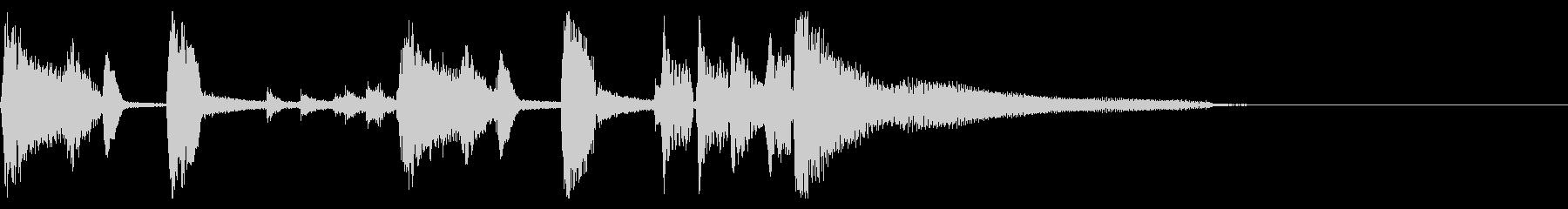 おしゃれなジャズ ピアノ ジングル 04の未再生の波形