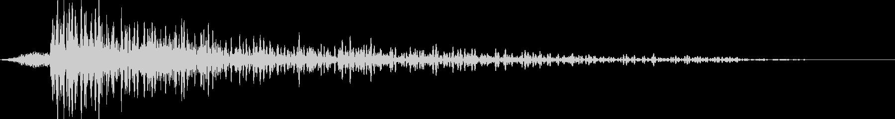PCが爆破するCinematicな効果音の未再生の波形