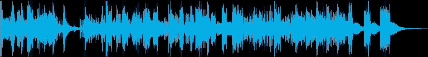 勢いのあるポップなジングル・トランペットの再生済みの波形
