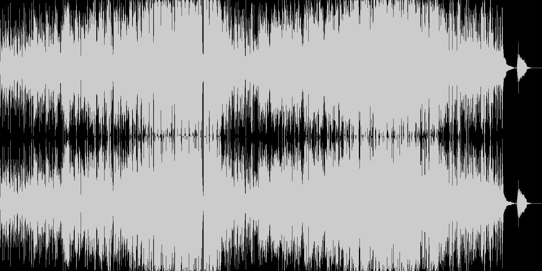 穏やかな優しいフォークソングの未再生の波形