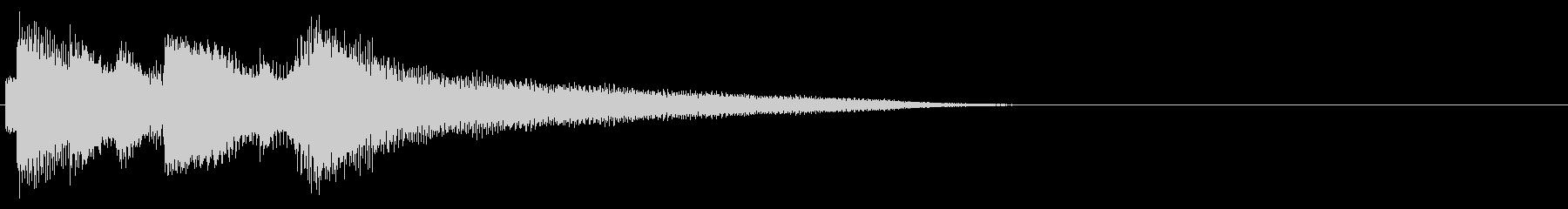エンディングのジングル【2】の未再生の波形
