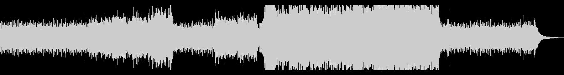 シネマティック・エモーショナルなピアノの未再生の波形