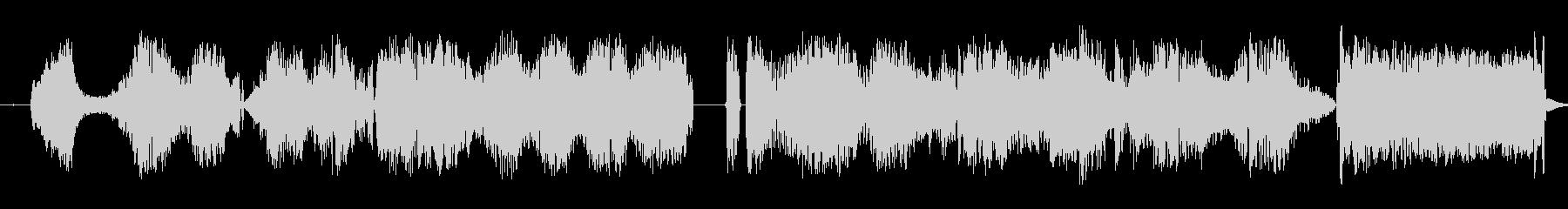 静的干渉跳ね返りスワイプ3の未再生の波形