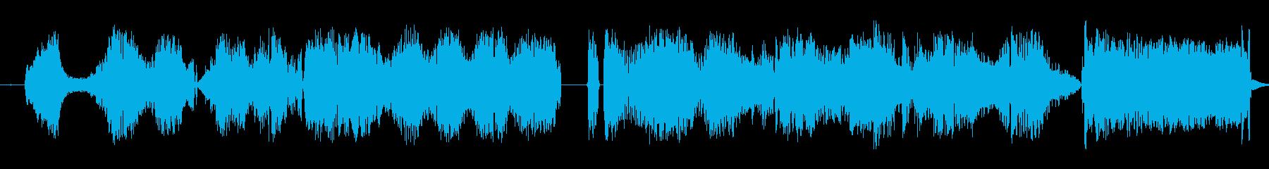静的干渉跳ね返りスワイプ3の再生済みの波形