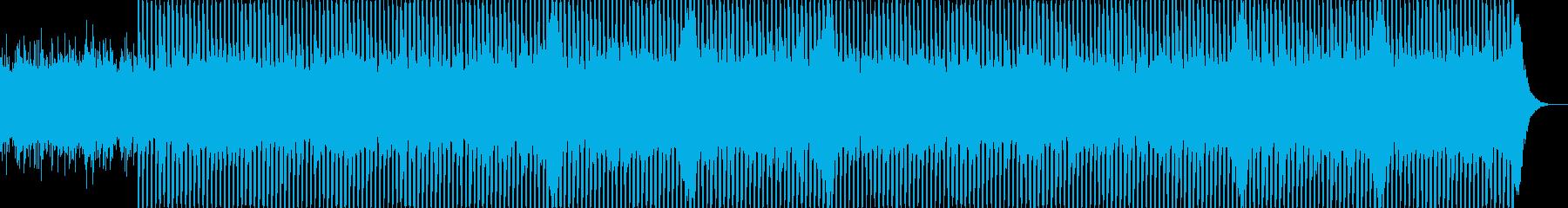 企業VP向け19、爽やかポップ4つ打ちaの再生済みの波形