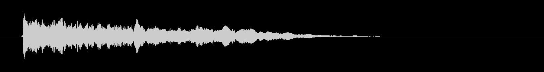 「きゅう?うん?」オリエンタルな弦楽器の未再生の波形