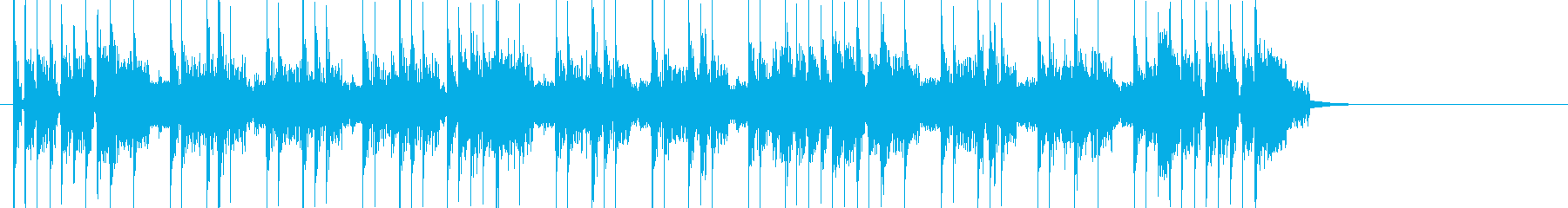 Rock系のジングルの再生済みの波形