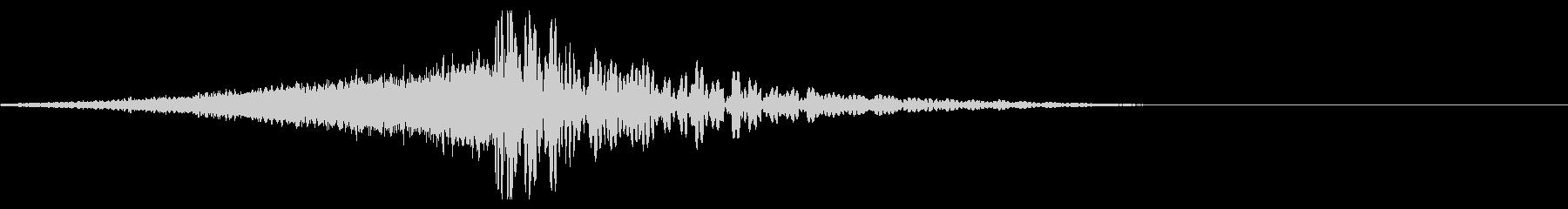 ホラー系アタック音121の未再生の波形