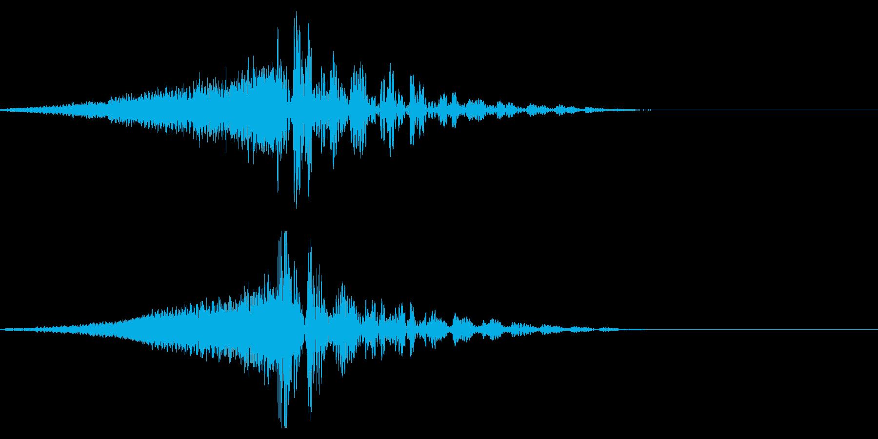 ホラー系アタック音121の再生済みの波形