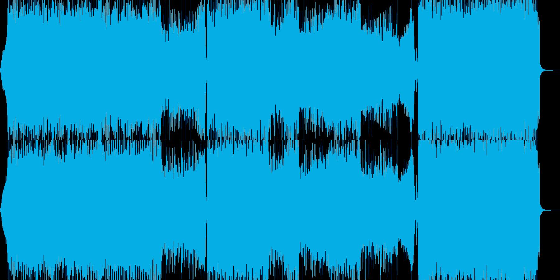 鬼・地獄の業火・ヘビー級ロック 長尺の再生済みの波形