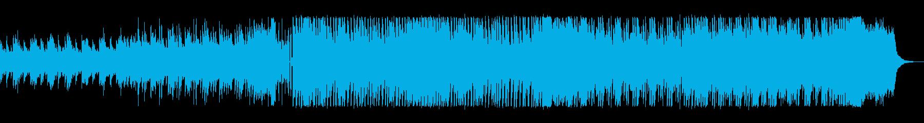 キラキラしたテクノのシンセサイザーの曲の再生済みの波形