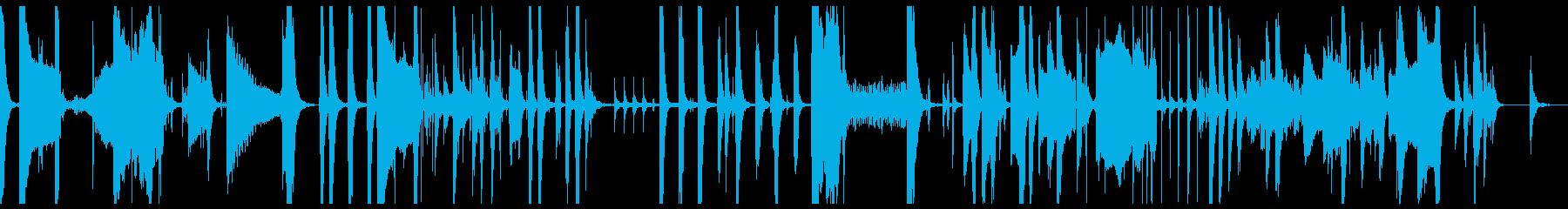 とぼけた感じの少し間の抜けたBGMの再生済みの波形