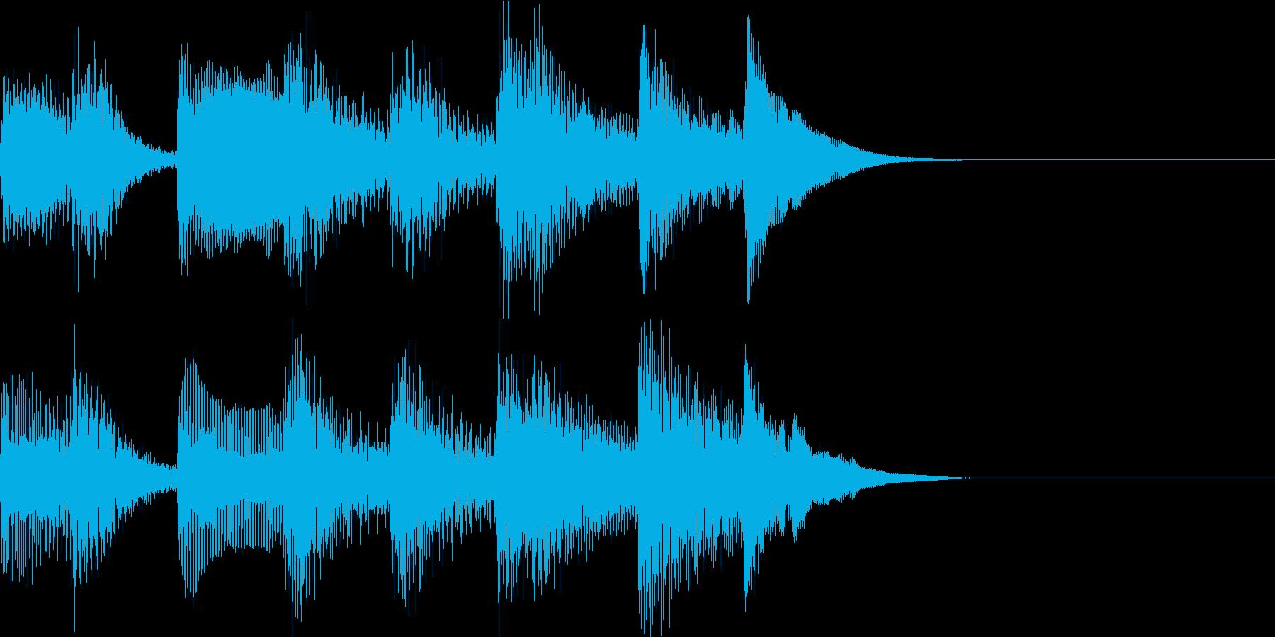 ダークで軽快なピアノのジングルの再生済みの波形