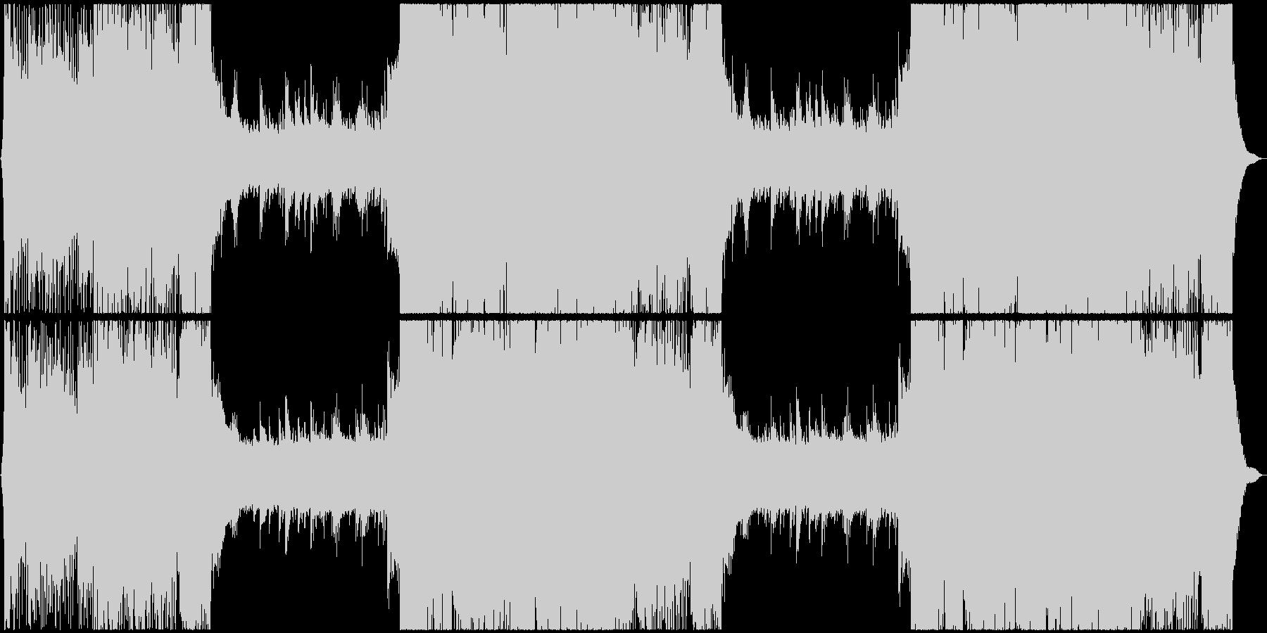 冷静と情熱のイメージが絡み合うバトル曲の未再生の波形