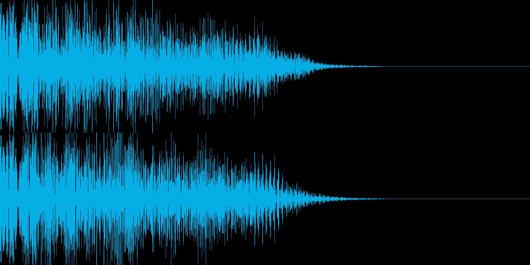 ドーン映画予告タイトル風/インパクトの再生済みの波形