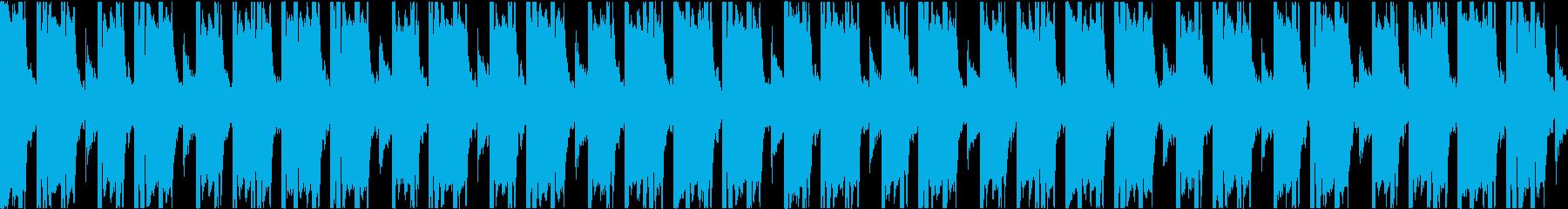 不気味な雰囲気のトラップビート16小節の再生済みの波形